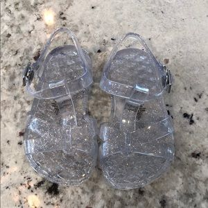 Old navy clear open toe jelly shoes